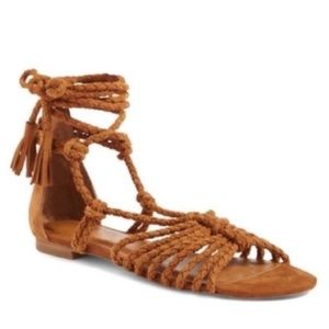 NEW Joie Rope Tie Up Gladiator Sandals Falk